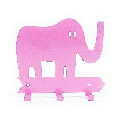 Cabideiro Elefante - rosa