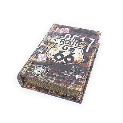 Caixinha Livro Decorativa Historic Route 66 - 18 x 13 cm