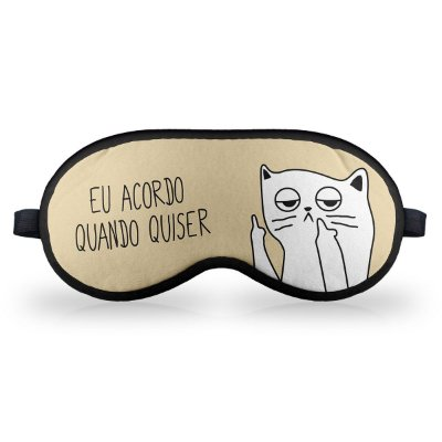 Máscara de Dormir em neoprene Gatinho Ranzinza