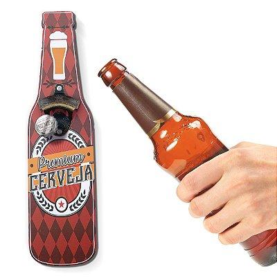 Abridor de Garrafa de Parede Premium Cerveja