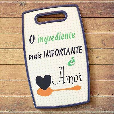 Tábua de corte O ingrediente mais importante é Amor