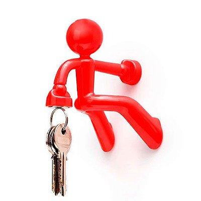 Porta chaves boneco magnético - vermelho