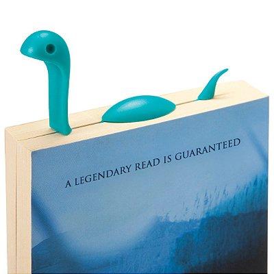 Marcador de Página Monstro do Lago Nes - azul