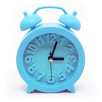 Relógio de mesa Retrô Moderno redondo - azul