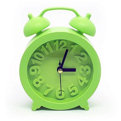Relógio de mesa Retrô Moderno redondo - verde