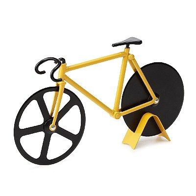 Cortador de Pizza Bicicleta - amarelo