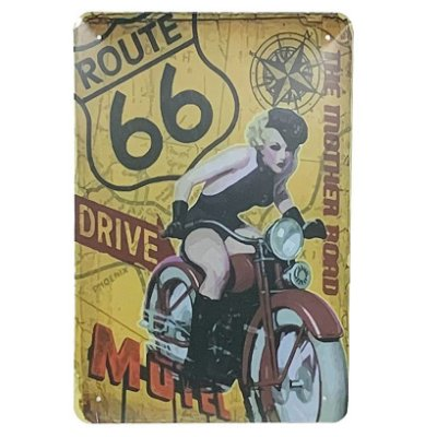 Placa de Metal Route 66 The mother road