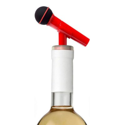Tampa para garrafa Microfone - vermelho