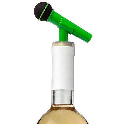 Tampa para garrafa Microfone - verde