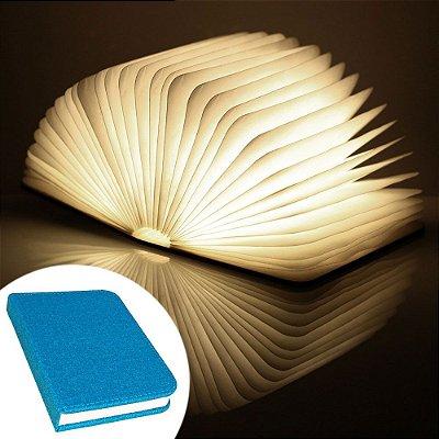 Luminária Livro sem fio BookLight Seven Colors - capa azul claro