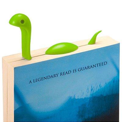 Marcador de Página Monstro do Lago Nes - verde