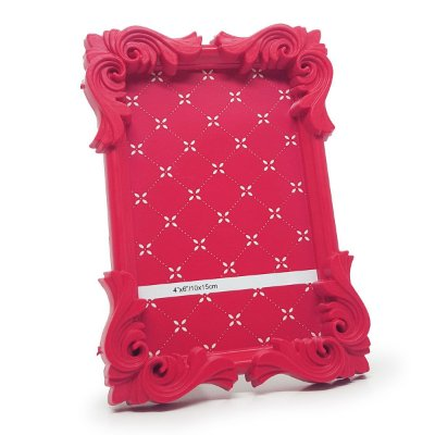 Porta Retrato moldura Flor - rosa
