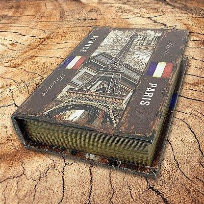 Caixa Livro Decorativa France Paris - 25 x 18 cm
