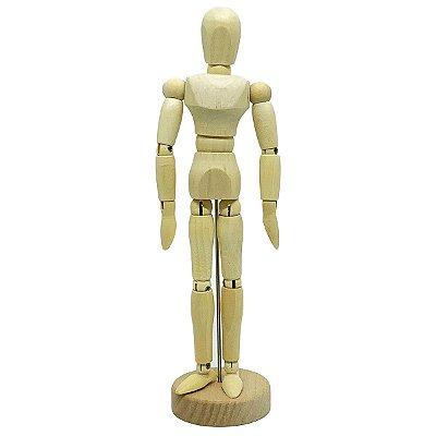 Boneco Manequim Articulado em madeira - 20 cm
