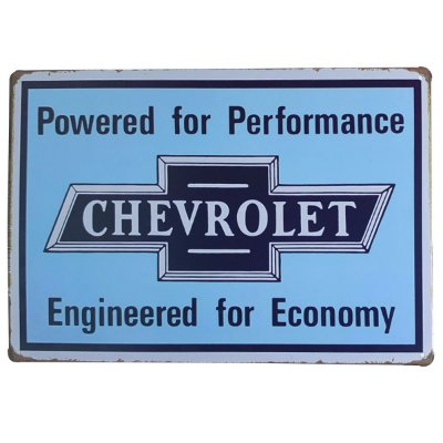 Placa de Metal Chevrolet - 30 x 20 cm