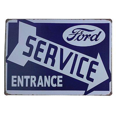 Placa de Metal Ford Service - 30 x 20 cm