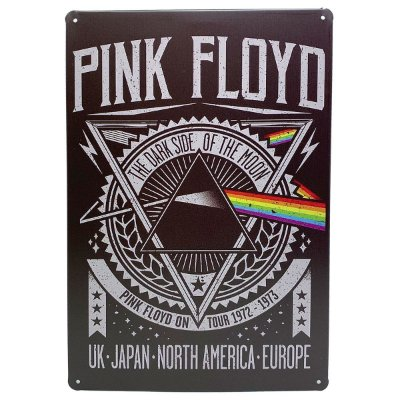 Placa de Metal Pink Floyd - 30 x 20 cm