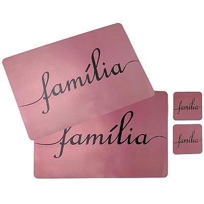 Jogo Americano Família - 4 peças