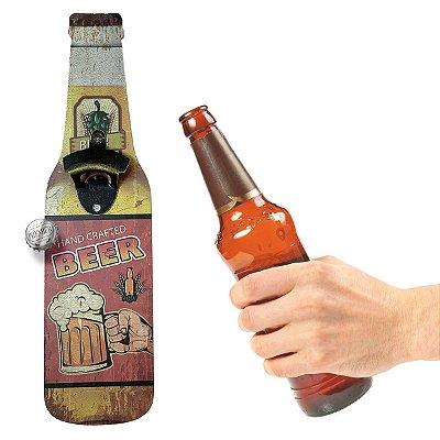 Abridor de Garrafa de parede Hand Crafted Beer