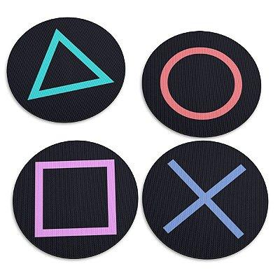 Jogo de Porta Copos Botões de Controle PS4 - 4 peças
