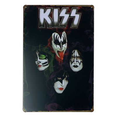 Placa de Metal Kiss - 30 x 20 cm