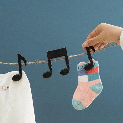 Prendedor Notas Musicais - 2 peças