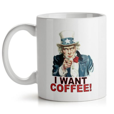 Caneca I Want Coffee