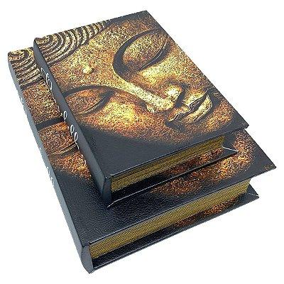 Kit Caixa Livro Decorativa Buda - 2 peças