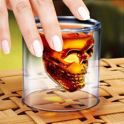 Copo para Whisky Caveira Doomed Grande 150ml