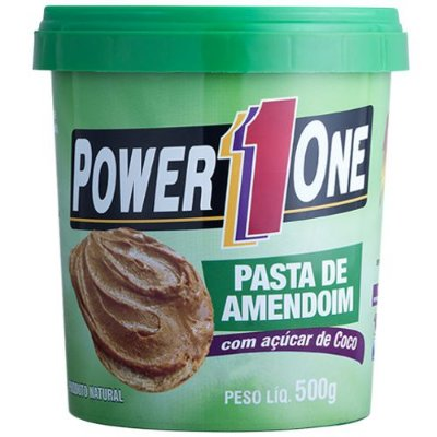 Pasta de Amendoim com açúcar de coco 500g - Power One