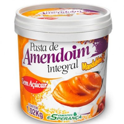 Pasta de Amendoim Integral 1kg - Mandubim