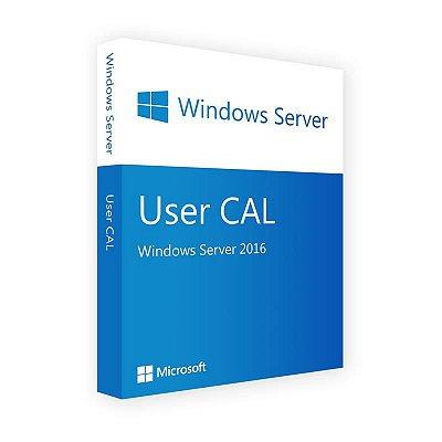 Pacote de 5 CALS de Usuário para Windows Server 2016