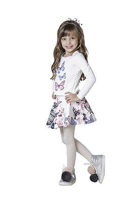 Conjunto Luluzinha Borboletas Off White ac457168b04