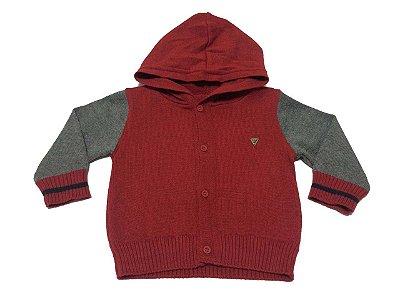5ca26774b9ec2 Cardigan Anjos Baby Bolas Vermelho - Pin Pin Baby - Calçados e ...
