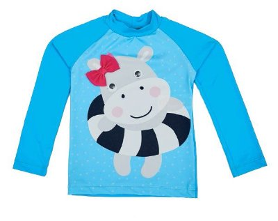 Camiseta Proteção Solar - Azul - Compre na Pin Pin Baby - Pin Pin ... 58a2f638d08