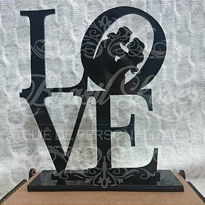 Topo de Bolo Casal LOVE - TBC 00534A