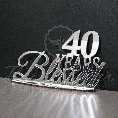 Topo de Bolo Blessed (Anos Abençoados) - (Personalizado com Idade que o Cliente Desejar) - TBV 01017A