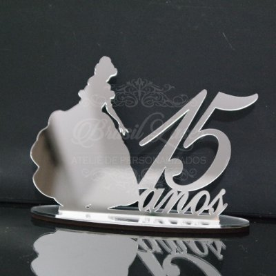 Topo de Bolo Princesa (Personalizado com Idade que o Cliente Desejar) - TBV 01046A