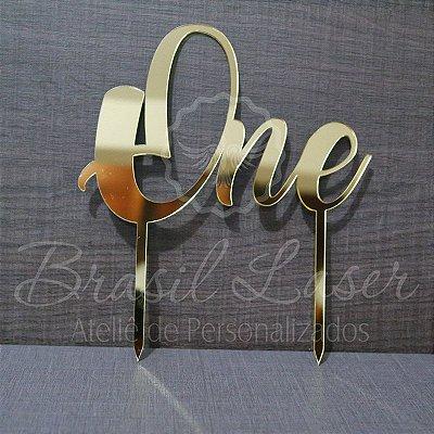 Topo de Bolo One (Número Um em Inglês) - TBV 01052A