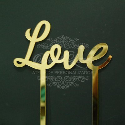 Topo de Bolo Love - TBV 01054A