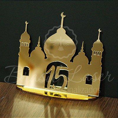 Topo de Bolo Castelo Árabe (Personalizado com Idade que o Cliente Desejar) - TBV 01058A