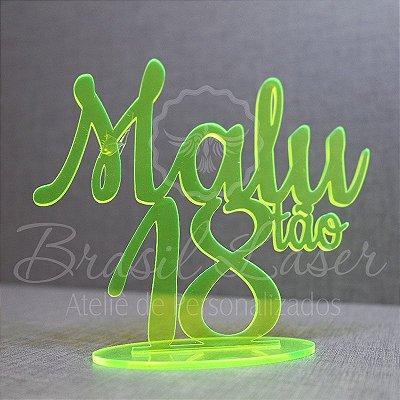 Topo de Bolo (Personalizado com Nome e Idade que o Cliente Desejar) - TBV 01061A