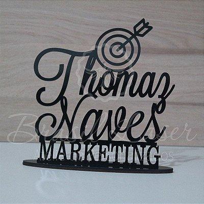 Topo de Bolo Marketing Formatura Formado (Personalizado com Nome que o Cliente Desejar) - TBV 01063A
