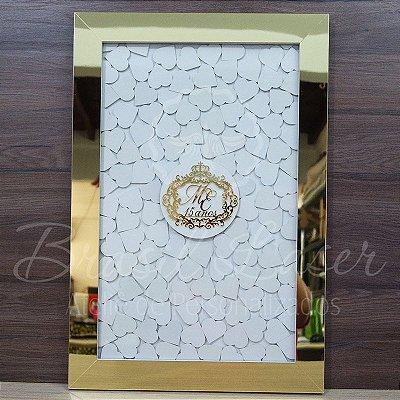 Quadro de Assinaturas Pintado com Brasão com Acrílico Espelhado Personalizado - QAB 00110A
