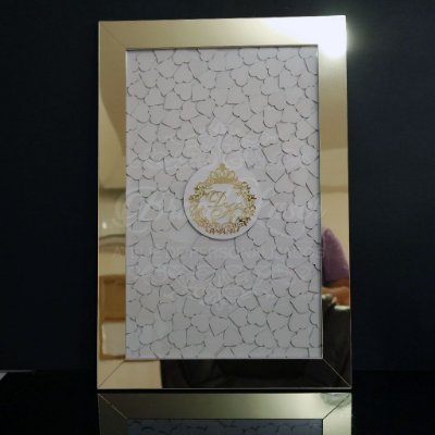 Quadro de Assinaturas Pintado com Brasão com Acrílico Espelhado Personalizado - QAB 00115A