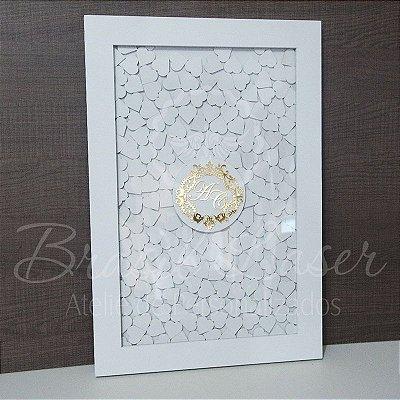 Quadro de Assinaturas Pintado com Brasão com Acrílico Espelhado Personalizado - QAB 00142A