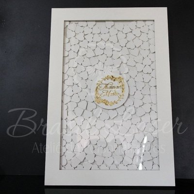 Quadro de Assinaturas Pintado com Brasão com Acrílico Espelhado Personalizado - QAB 00145A