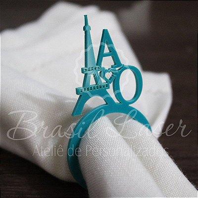 1 Porta Guardanapo Paris Torre Eiffel Coração com as Iniciais que desejar - #Quant.Mínima: 10 unidades iguais# PGP 02021A