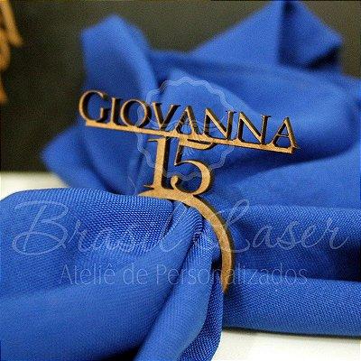 1 Porta Guardanapo com o Nome e a Idade que desejar Debutante 15 Anos XV - #Quant.Mínima: 10 unidades iguais# PGP 02054A