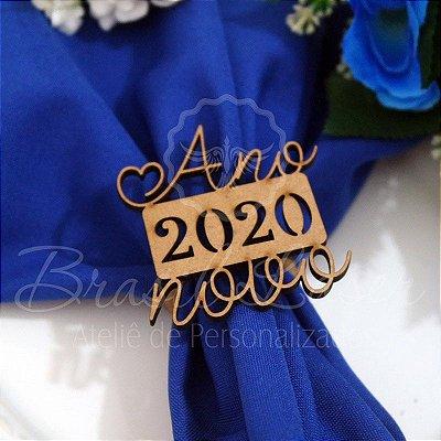 1 Porta Guardanapo em Mdf Ano Novo 2020 (Pintado e Sem Pintura) - #Quant.Mínima: 10 unidades iguais# PGV 01023A